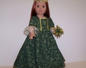 Celtic Princess Dress for American Girl and Other 18 inch Dolls