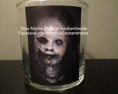 Halloween CREEPY Doll votive-tea light holder