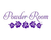 Powder Room - Wall Decal - Vinyl Wall Decals, Wall Decor, Signage, Powder Room Decal, Bathroom Wall Decal, Bathroom Door Decal