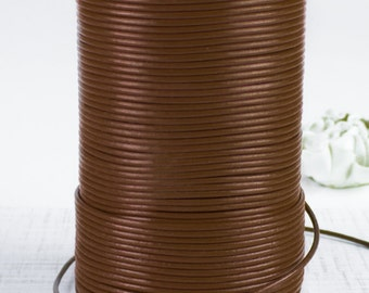 SHOP SALE - Greek Genuine Leather Cord, round 1.5mm Warm Chocolate Brown, By the Yard, DIY Mykonos Craft Jewelry Supplies