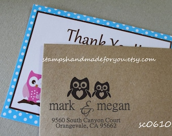 Personalized Custom Return Address Rubber Stamp or Self Inking Housewarming Anniversary Gift Self Inking  Wood Personalized Return Address