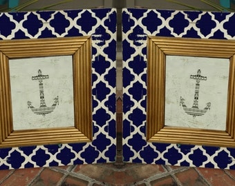 """Set of two 5x7 frames with 6"""" wood Great for Nurseries/Weddings/Wedding gifts/ Photography/ Gallery Wall/ Picture frames/Anchor frames"""
