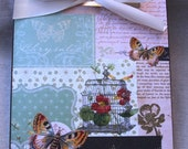 Altered Clipboard Butterfly Home Decor Wall Art Gift