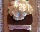 Altered Magnet Paper Flower Friendship Gift Home Decor
