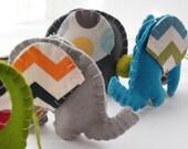 Baby Crib Mobile, Elephant mobile Blue, Grey and Orange