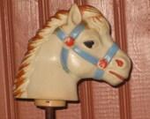 Antique Toy Baby Horse Rubber Spring Bouncing Squeak Toy Allan Jay Fifties Nursery Decor