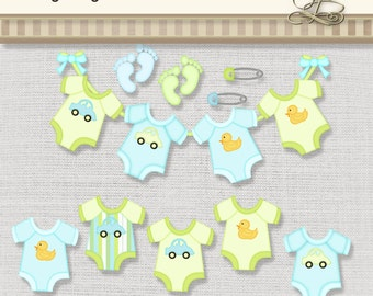 Baby Boy Onsies digital png files for scrapbooking, card making, digital and paper crafts
