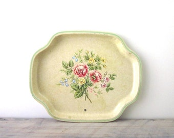 English Floral Tin Tray