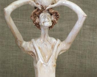 Male Figure , Statue , Sports , Male Portrait , Basketball , Dino Bencini , Ceramic Figure , Italian Ceramics , Sports Figure , Handmade
