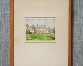Architectural , Painting , Rendering , Watercolor Painting , Original , Art , Fine Art , Architecture , Building , Vintage Art