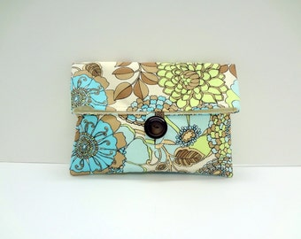 READY TO SHIP Floral Clutch Makeup Bag Bridesmaid Gift