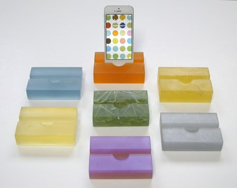 Groove iPhone Stand, Modern Minimalism, Great Phone Stand, Great Graduation Gift, Doubles as Business Card Holder!