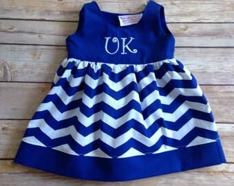 Fall Kentucky wildcats Boutique girls jumper, size 3 months -8yrs