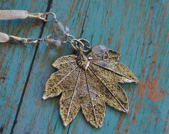 Winters Kiss Maple Leaf Necklace