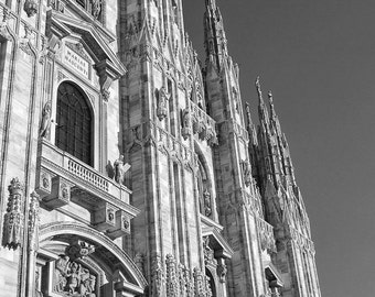 Fine Art photography, Milan, Milano, Italy duomo, church, cathedral, black and white, 8x12, 8x10 avail