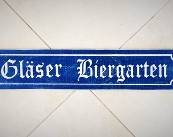 6-9 Letters Custom Last Name Biergarten Sign 24-28x6 (Choose Color) Custom Rustic Shabby Chic Wood Sign