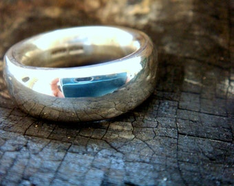 Mens Wedding Band Mans Ring 8mm Wide