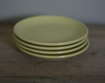 watertown lifetime ware melamac yellow bread and butter plates