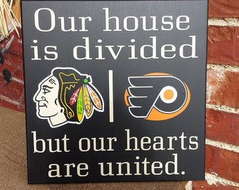Personalized NHL House Divided Wild Blackhawks