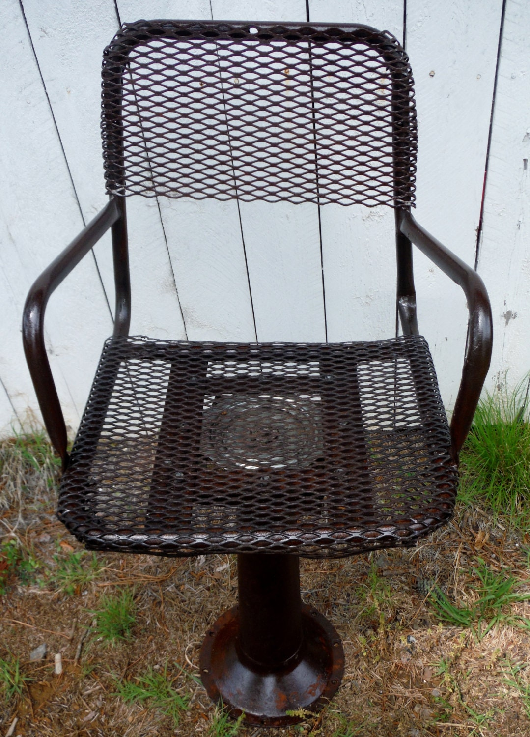 Heavy Equipment Frames : Old heavy equipment repurposed industrial seat frame stool