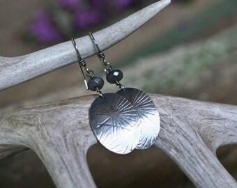 Dangle Earrings, Labradorite and Sunburst Earrings