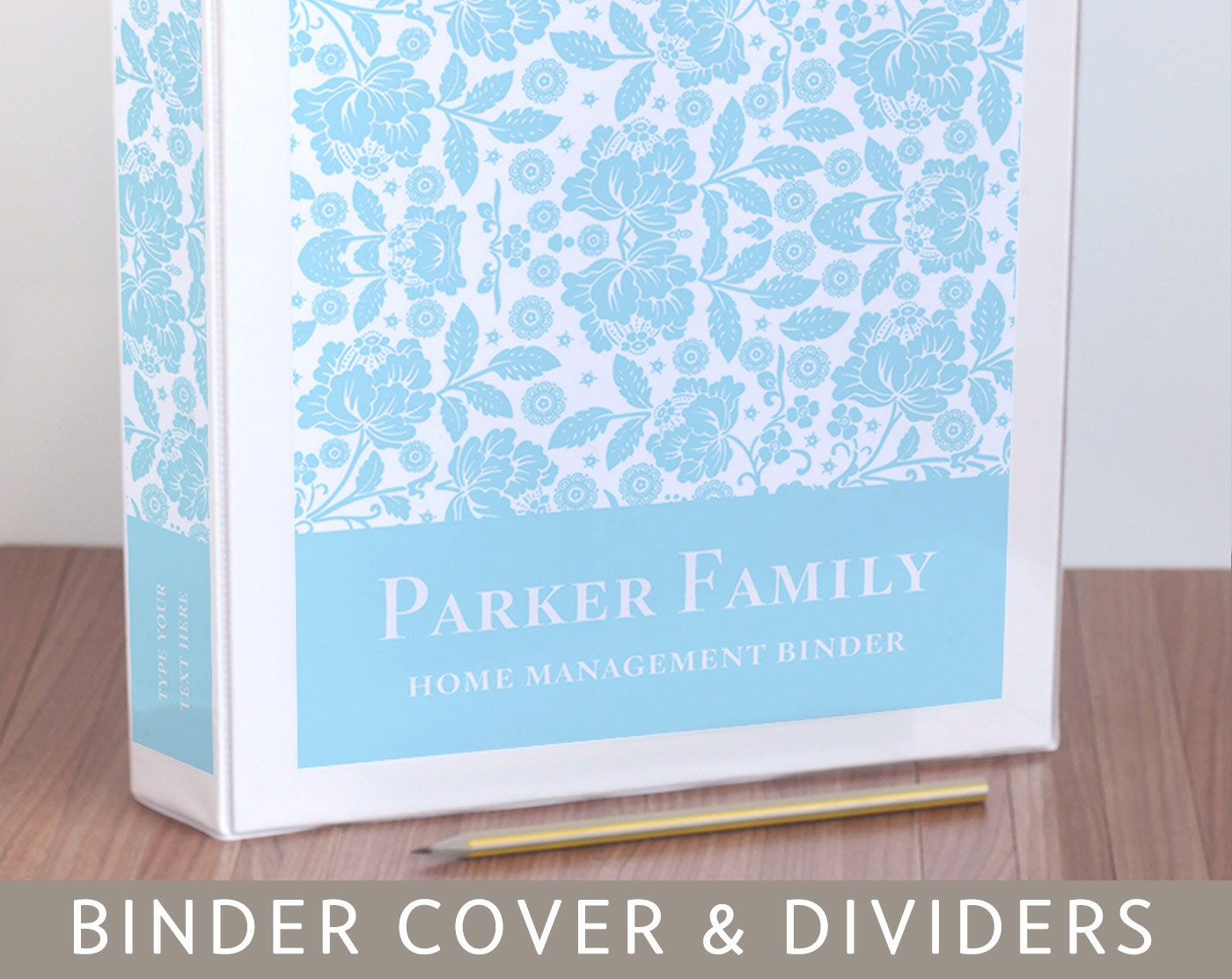 half inch binder spine template - binder cover spine inserts and tabbed dividers in floral