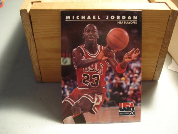 Michael Jordan Bulls Nba 1992 Skybox By Sportscardsandthings