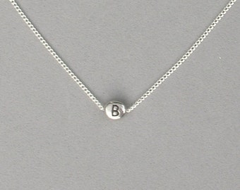 Initial B Bead Necklace