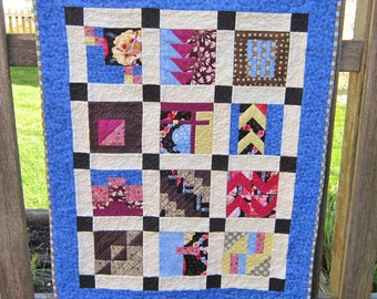 Modern Patchwork Quilted Wallhanging