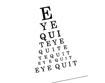 Eye Chart Card.Eye Quit.Eye .Eye Chart.Paper Goods.Eye Exam.Eye Test.Eyes.Site.Vision.Optometrist. Eye Doctor. by Yvonne4eyes