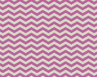 1 Yard of True Colors Orchid Chevron  Fabric By Heather Bailey Freespirit Fabrics