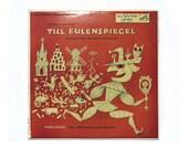 """Jim Flora record album design, 1955. Richard Strauss """"Till Eulenspiegel"""" LP"""