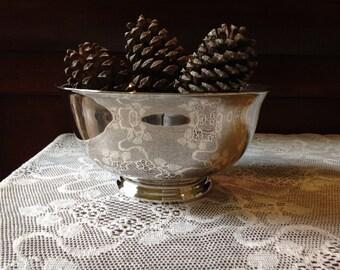 Vintage Reed & Barton Silver Serving Bowl - Footed Bowl