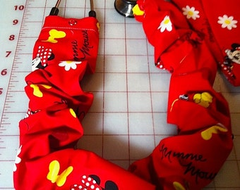Minnie Mouse on Red Stethoscope Cover
