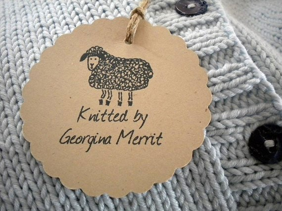Woolly Sheep Custom Olive Wood Stamp