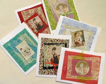 Quilted Collage Note Cards