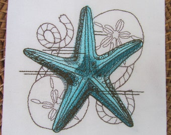 Nauticus - Starfish - Kitchen Flour Sack Towel - Gourmet - Natural Cotton