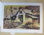 Whimsy Rainbow Barn, Note Card 5 x 7 greeting card handmade watercolorsnmore