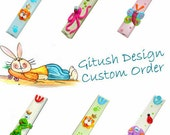 Custom Order for Emma- Monkey Door Sign  - polymer clay art - kid's room design