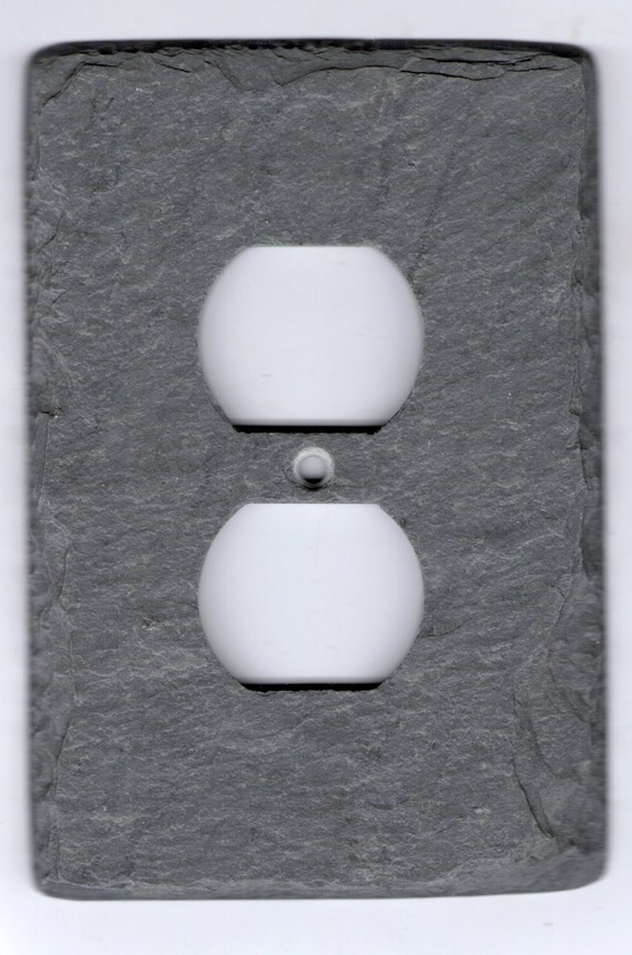 Slate Switch Plate Outlet Cover Unique Vermont Gray Stone