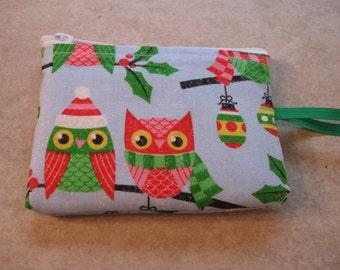 mini hoot christmas owl bag coin purse