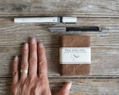 Small Hand-Bound Journal by Peg and Awl