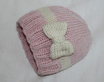 PDF KNITTING PATTERN- Baby Girl Slouchy Hat (6 months- 4 years)