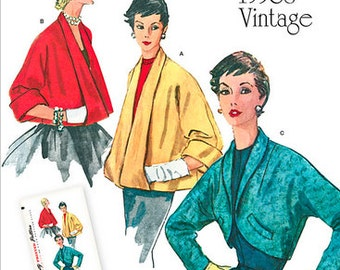 Pick Your Size - Vintage 50s Reissued Pattern - Simplicity 1319 - Misses' Set of Jackets - Simplicity Patterns