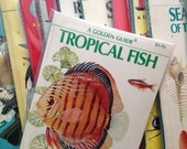 Blank Book - Fish or Shells - Repurposed Vintage Field Guide Book Cover