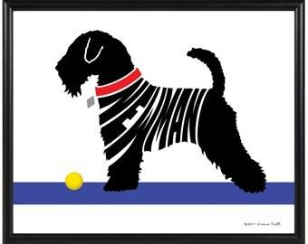 Personalized Wheaten Terrier Print,  8x10 Framed Silhouette Terrier Name Art, Dog Memorial Gift