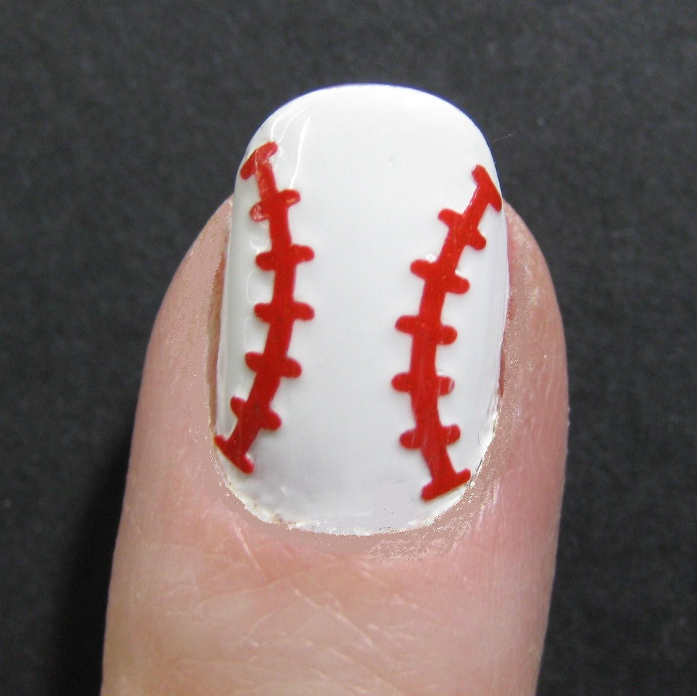 Baseball softball toe nail finger nail art tattoos zoom prinsesfo Images