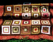 Handmade traditional modern lap quilt table topper or wallhanging