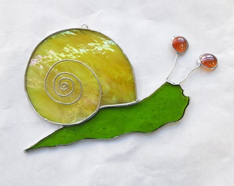 Fused Glass Land Snail Suncatcher Helix Pomatia