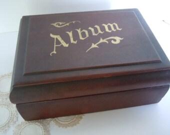 Photo Box Antique Album Vintage Keepsake Wood Treasure Keeper Rustic Home Decor AMarigoldLiife